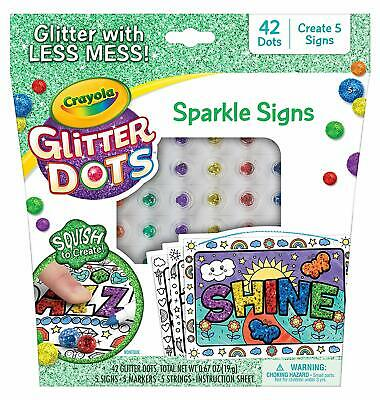 Crayola Glitter Dots DIY Keychains Kids Craft Gift for Ages 5 6 7 8