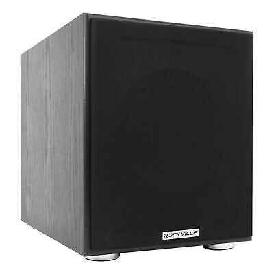 Rockville Rock Shaker 8 Inch Black 400w Powered Home Theater Subwoofer Sub