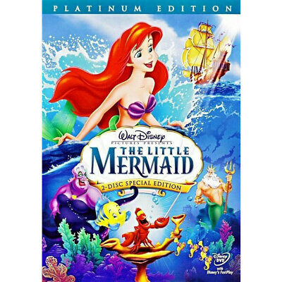 The Little Mermaid DVD 2006 2-Disc Set Platinum Edition Slipcover Included