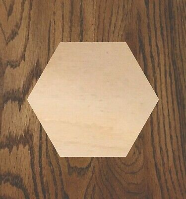 Hexagon Laser Cut Wood Sizes up to 5 feet Multiple Thickness Crafting