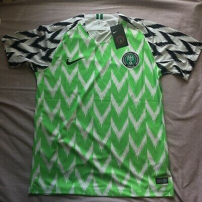 Nigeria Home Football Shirt Jersey 2018 World Cup 2019 Large L Green