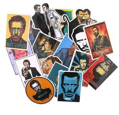 17pcs Vinyl Stickers Decal Laptop Skateboard Luggage Decals Dope Decor TV movies