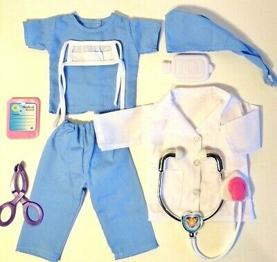 NURSE SCRUBS DOCTOR fits American Girl Doll 18 Inch Doll Clothes 8 Piece Set