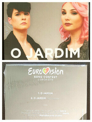 EUROVISION 2018 PORTUGAL CLAUDIA PASCOAL - O JARDIM PROMO CD SINGLE