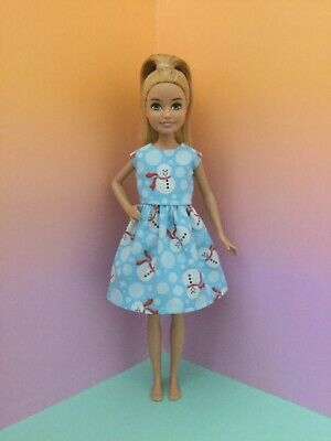 Handmade Doll Clothes fit Modern Vintage STACIE Snowman Dress New NO DOLL