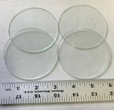 4 pack Round 3 inch Clear Flat Glass CIRCLE 2mm thick a Solder Glass Supply