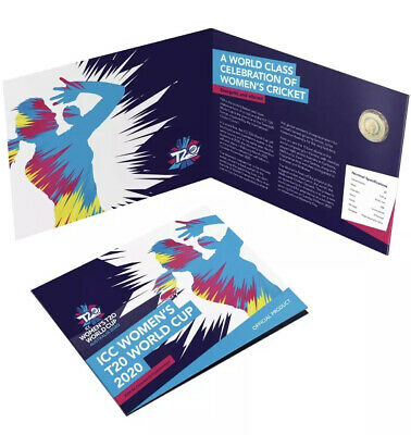 2020 ICC Cricket T20 Womens World Cup - 2 Dollar UNC Coin In Folder