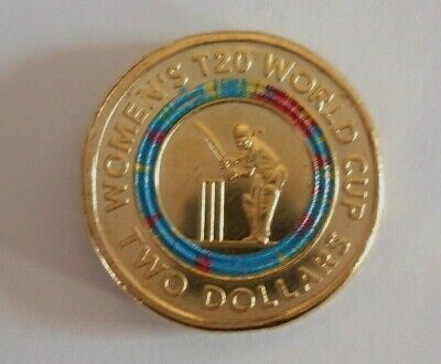 T20 world cup womens   AUSTRALIAN 2 DOLLAR  COIN UNCIRCULATED in STOCK NEW