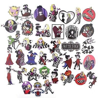 38pcs Vinyl Stickers Decal Laptop Decals Skateboard Luggage Decals Dope horror