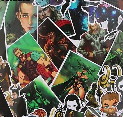 37pcs Vinyl Stickers Decal Laptop Decals Skateboard Luggage Decals Dope Hero