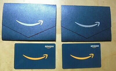 NEW 50 X 2  TOTAL 100  AMAZON Physical Gift Cards in Amazon Gift Sleeves