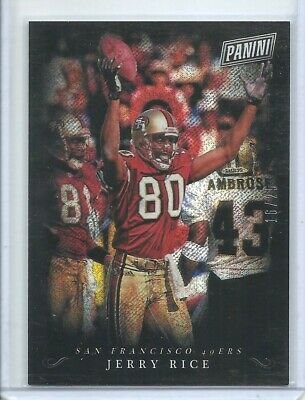 2018 PANINI BLACK FRIDAY RAPTURE PARALLEL COLLECTION JERRY RICE 25 49ers