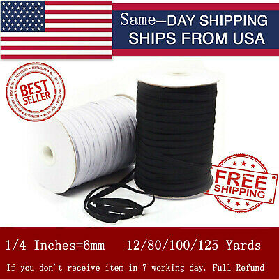 Elastic Band Cord 14 inches width 6mm 12 yard to 125 Yards Sewing For Mask up