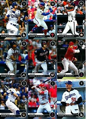 2020 Topps Now - MLB NETWORK TOP 100 PLAYERS s 1-100 IN HAND - U Pick From List