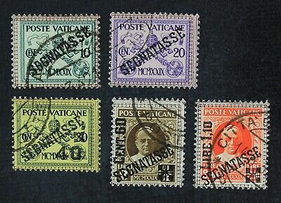 CKStamps Italy Stamps Collection Vatican City ScottJ2-J6 Used