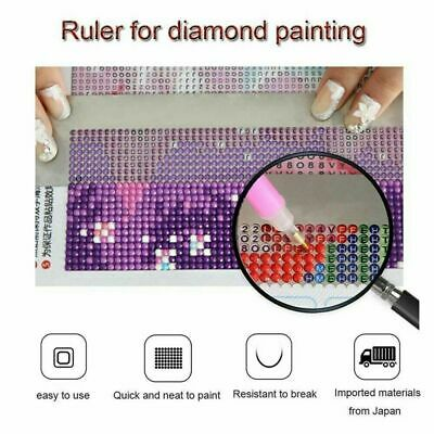 US 5D Diamond Painting Ruler Cross Embroidery Stainless Steel DIY Painting Ruler