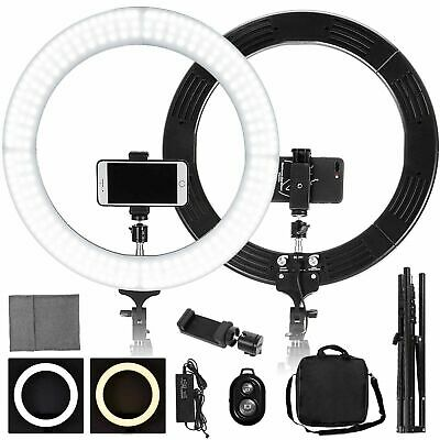 18 LED SMD Ring Light Kit with Stand Dimmable 5500K for Makeup Phone Camera
