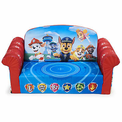 Marshmallow Furniture Comfy 2-in-1 Flip Open Couch Bed Kid Furniture Paw Patrol