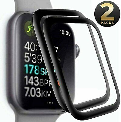 2-PACK FULL COVER Screen Protector For Apple Watch Series 6 5 4 SE 40  44 mm