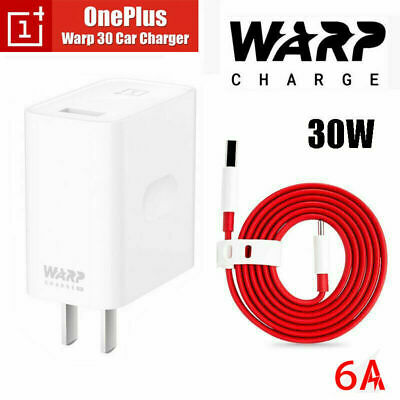 Genuine OnePlus Warp Charge 30W Power Charger - Cable For OnePlus 8 7 7T Pro