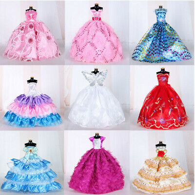 9Pcs Doll Wedding Party Dress Princess Clothes Handmade Outfit for 12in Dolls