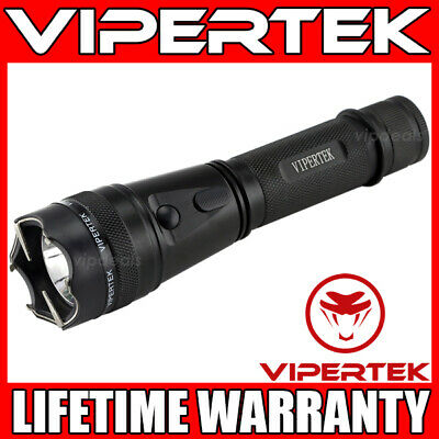 VIPERTEK Stun Gun VTS-195 - 500 BV Metal Heavy Duty Rechargeable LED Flashlight