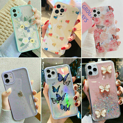 For iPhone 12 11 Pro MAX XR 7 8 Plus Case Glitter Shockproof Bumper Hybrid Cover