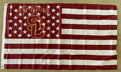 USC Trojans 3x5 Ft American Flag College Football New In Packaging