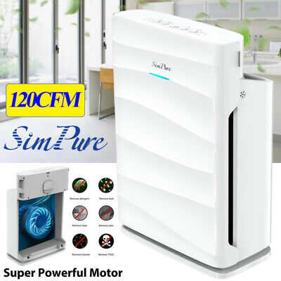1500Sqft Air Purifier wWashable Filters 120CFM Large Room Cleaner 5-Stage Hepa
