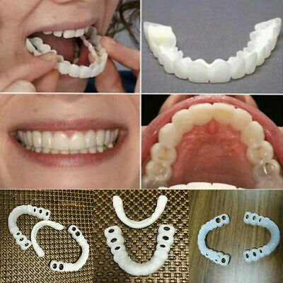 2Pair Teeth Veneers Perfect Smile Cosmetic Comfort Covers Upper Bottom