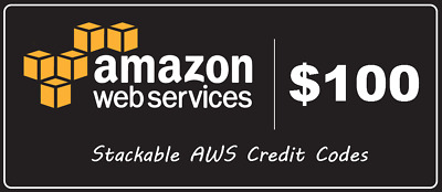 AWS 100 Code Amazon Promocode Credit Web Services Regular 100 Immediately sent