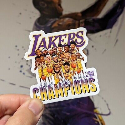 Lakers 2020 NBA Finals 🏆 Champions  Championship Caricature Team Sticker 💜💛