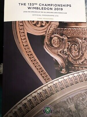Wimbledon Tennis 2019 Final Programme Brand New