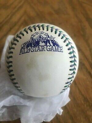 1998 Rawlings Official All-Star Game Baseball Colorado Rockies slight blemishes