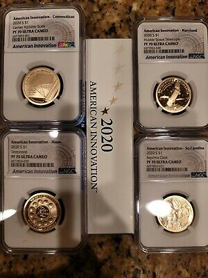 2020-S 4 Coin American Innovation Proof Set NGC PF70 Ultra Cameo wCOA OGP
