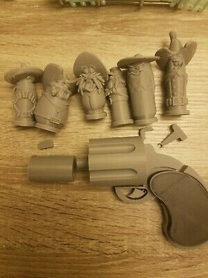 Who Framed Roger Rabbit Toon Gun And Bullets Movie Memrobilia 3D Printed IN USA