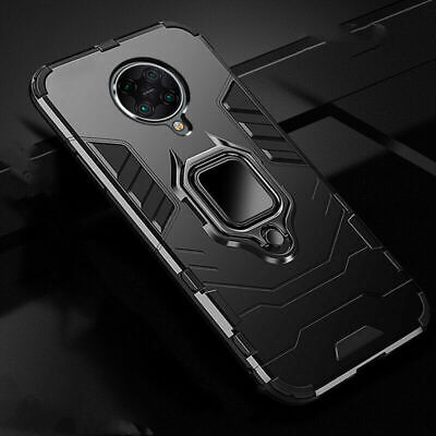 Shockproof Hybrid Armor Magnetic Ring Holder Case Cover For Xiaomi POCO F2 Pro