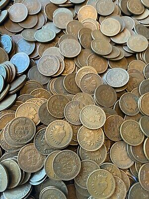 (25) Indian Head Cents Pennies 1858-1909 US Coin Old Estate Sale Circulated Cent