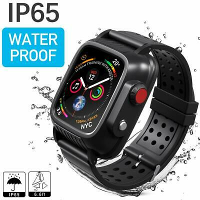 Waterproof Case for Apple Watch Series SE 6 5 4 44mm Screen Protector Strap Band