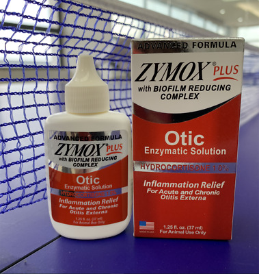 ZYMOX Advanced Formula Otic Plus Enzymatic Ear Solution for Dogs and Cat with 1