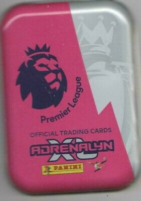 PANINI PREMIER LEAGUE ADRENALYN XL 2021 TIN WITH 50 ALL DIFFERENT CARDS