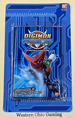 Digimon Fusion New World Blister Booster Pack NEW Trading Card Game TCG CCG