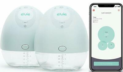 Elvie Pump Double Silent Wearable Electric Breast Pump with App Hands-Free Porta
