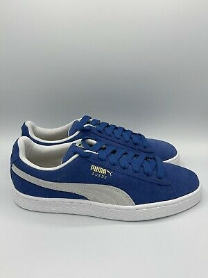 Puma Suede Classic- Mens Shoes Casual Sneakers 352634 64 Blue White