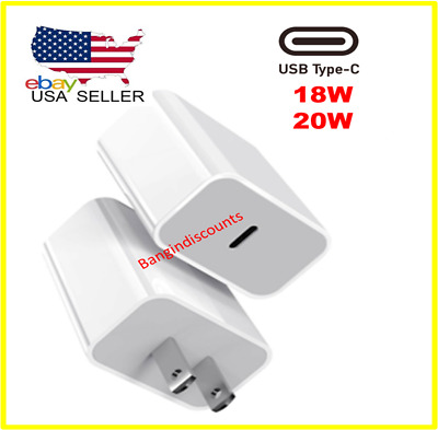 For iPhone 12 Pro MaxMini18W 20W USB Type C Fast Wall Charger PD Power Adapter
