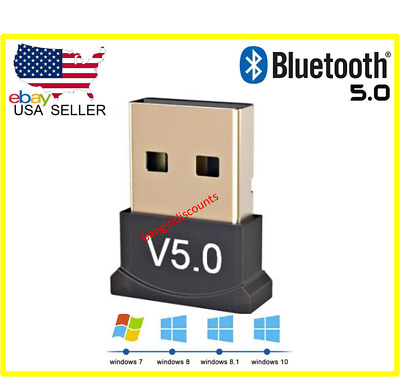 USB Bluetooth 5-0 Wireless Audio Music Stereo Adapter Dongle receiver For TV PC