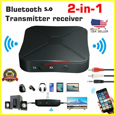 2-in-1 5-0 Bluetooth Wireless Audio Aux 3-5mm Adapter Transmitter and Receiver