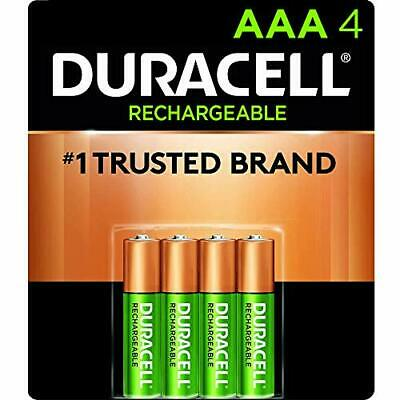 Duracell Rechargeable StayCharged AAA Batteries 4 Count 4 Pack of 1