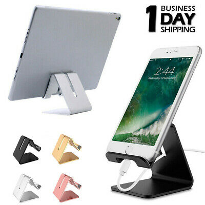 Cell Phone Stand Metal Desk Holder Mount Dock Table Cradle For iPhone Samsung LG