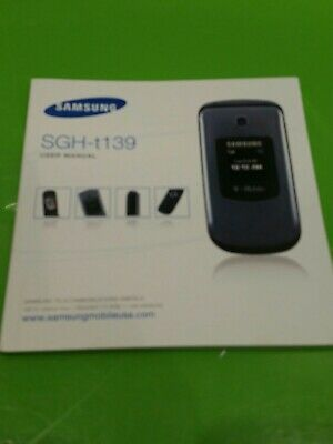Manual samsung sgh T139 User Manual good Condition original